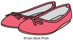 Shoe clipart flat shoe Ballet Pink Vector ballet flats
