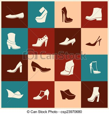 Shoe clipart flat shoe  of csp23970680 Vector icons
