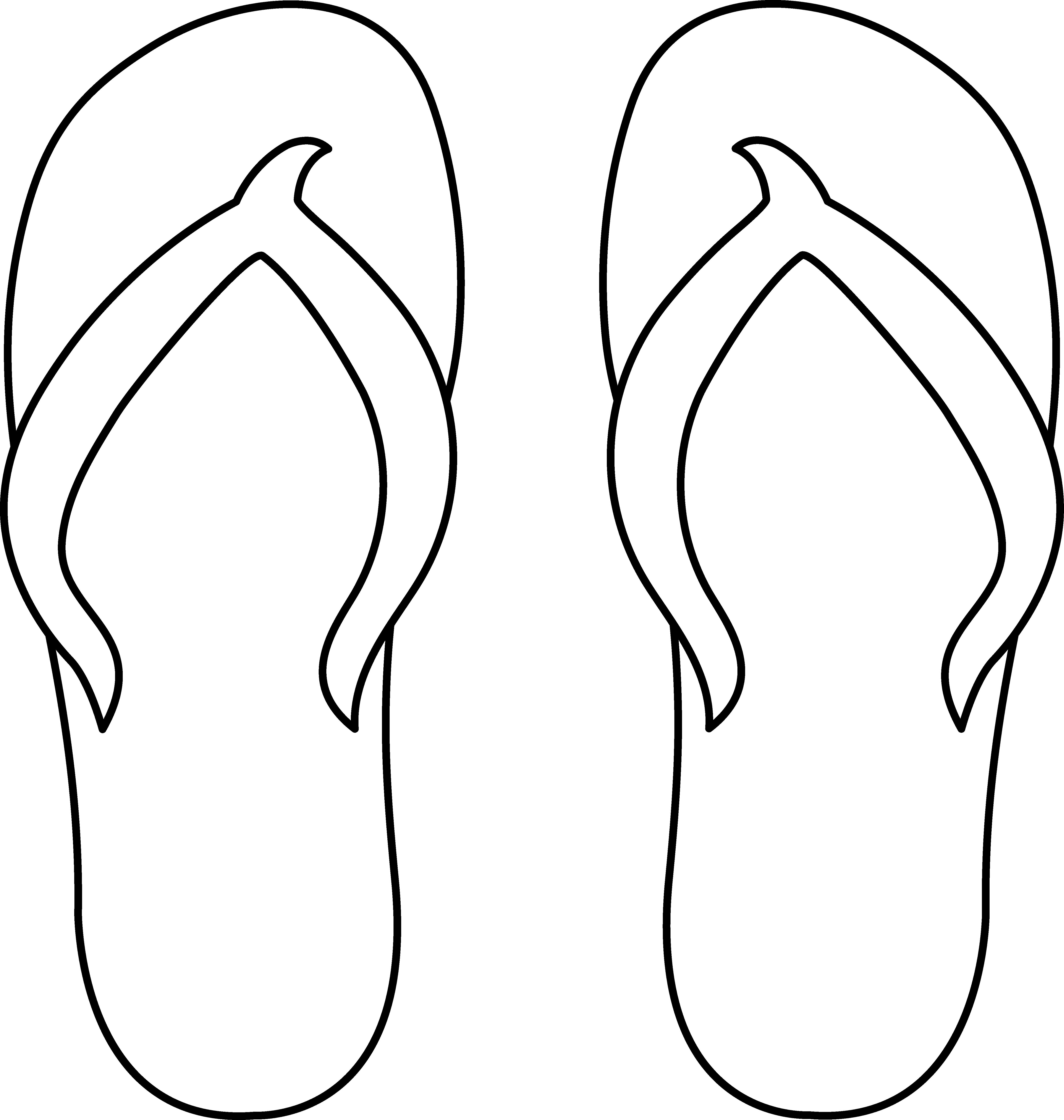 Shoe clipart flip flops #14