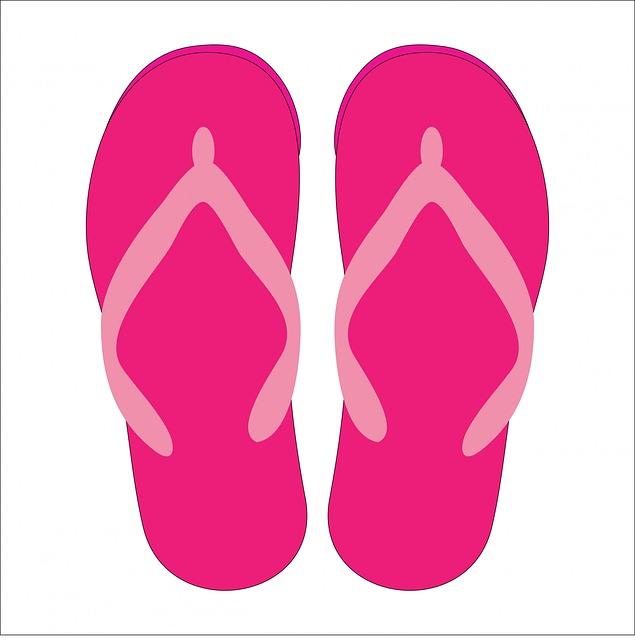 Shoe clipart flip flops #10