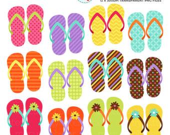 Shoe clipart flip flops #11