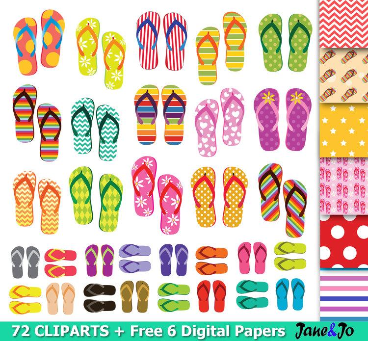 Shoe clipart flip flops #12