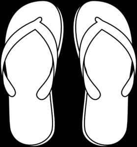 Sandal clipart black and white #2