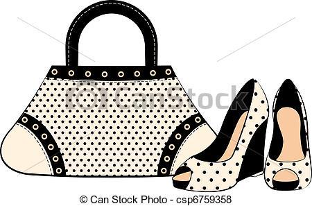 Shoe clipart handbag #7