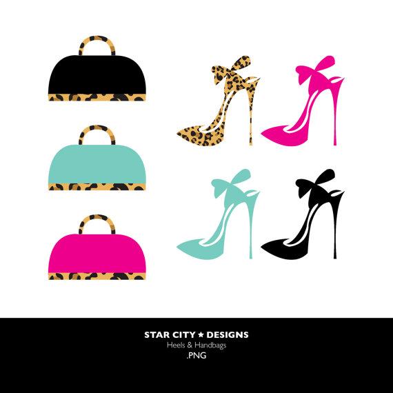 Shoe clipart handbag #10