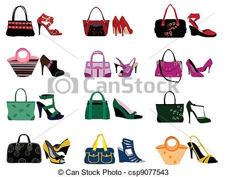 Shoe clipart handbag #9