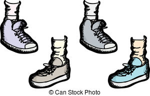 Shoe clipart shoe sock Shoes Athletic Clip Set Art