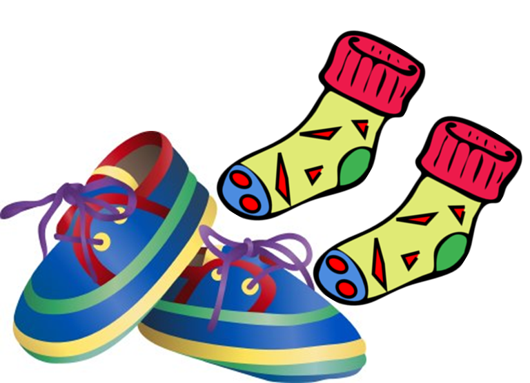 Shoe clipart shoe sock Socks shoes and Jerseyville shoes