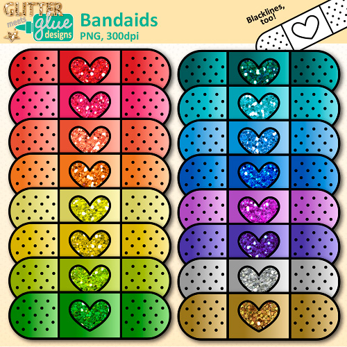 Shoot clipart bandaid Glitter Art Aid Lessons Clip
