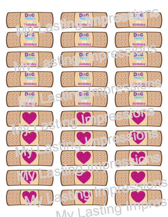 Shoot clipart bandaid Labels McStuffins BOO