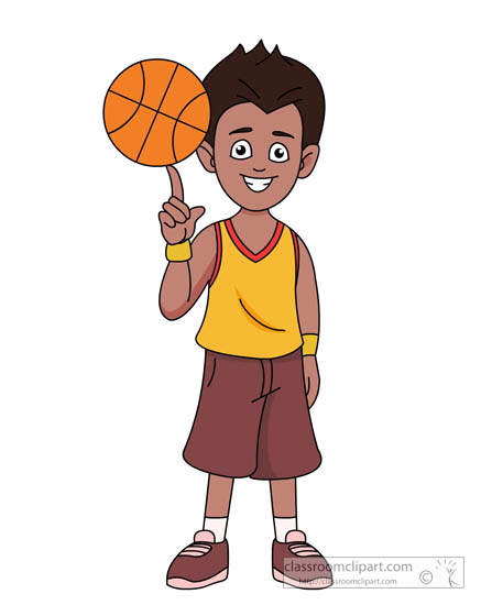 Child clipart basketball To Art Clipart Free Sports