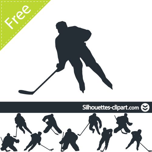 Shoot clipart hockey Hockey Hockey Hockey silhouettes about