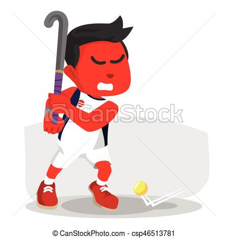 Shoot clipart hockey To  Vector red csp46513781
