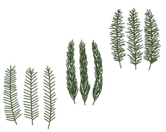 Pine clipart pine needle Branch Etsy Pine Christmas Download