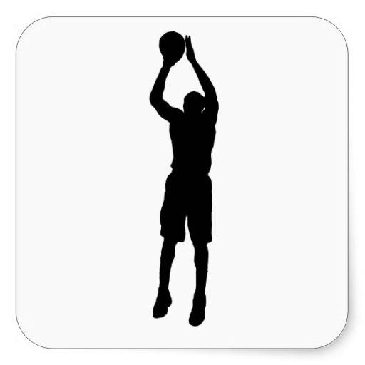 Shooter clipart silhouette Clipart silhouette player Silhouette Basketball