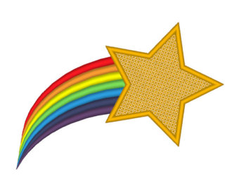 Shooting Star clipart gold Rainbow Star Images Art Clip