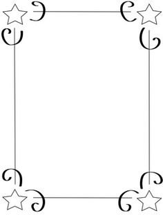 Shooting Star clipart border Borders products set Google some