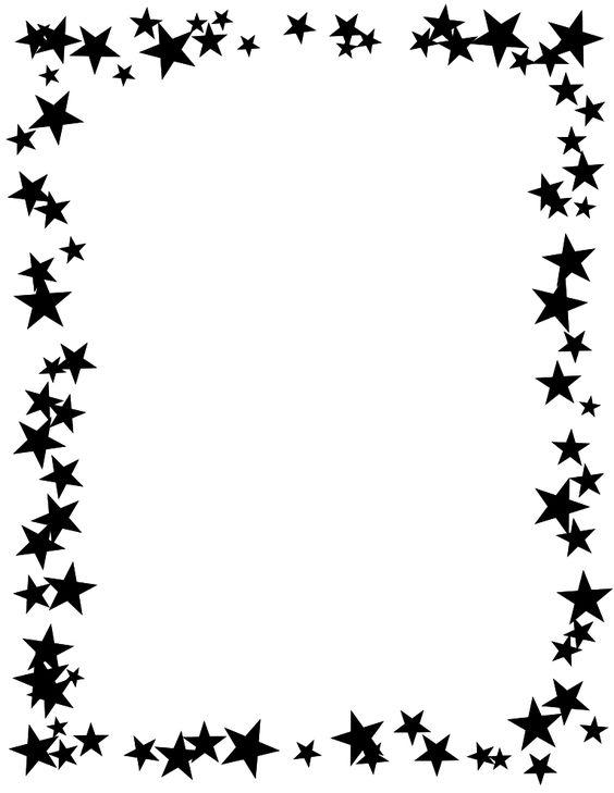 Shooting Star clipart border Black clip Shooting 2 clip