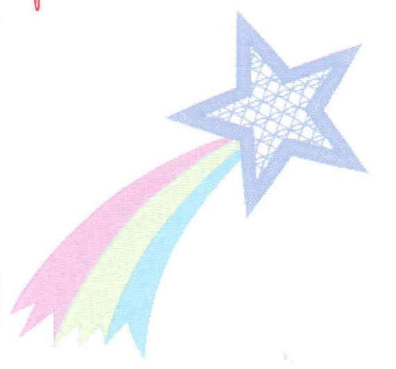Shooting Star clipart colorful Art Star Outline Invitation Outline