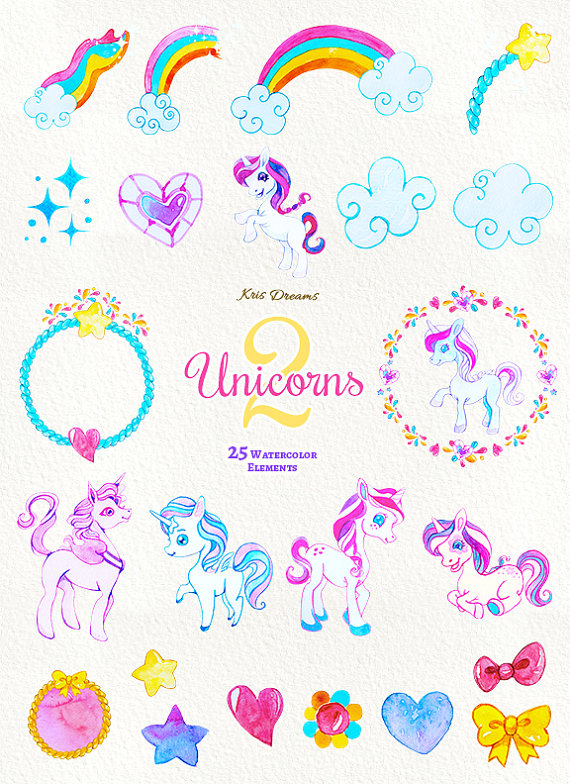 Shooting Star clipart tail clipart 50% is file Watercolor Rainbow