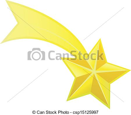 Shooting Star clipart illustration Vector  csp15125997 of Shooting