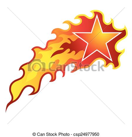 Shooting Star clipart illustration Star flaming csp24977950 of