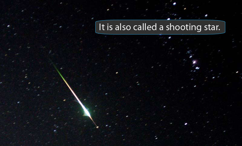 Shooting Star clipart outer space Another one meteor3 across streaking