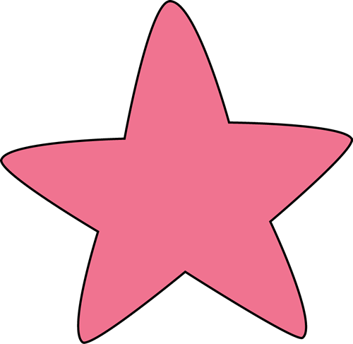 Shooting Star clipart pink Rounded Clip Star Star Art