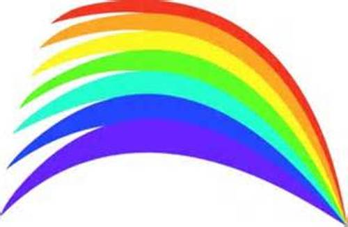 Vector clipart rainbow #10