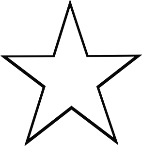 Shooting Star clipart single Bw 5 Stars Clip Download