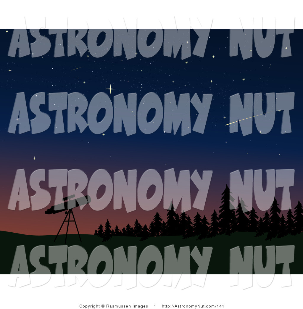 Shooting Star clipart single And Silhouetted Telescope Dusk/Night Tripod
