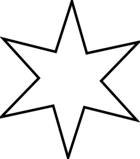 Stare clipart black and white And and black 4 Star
