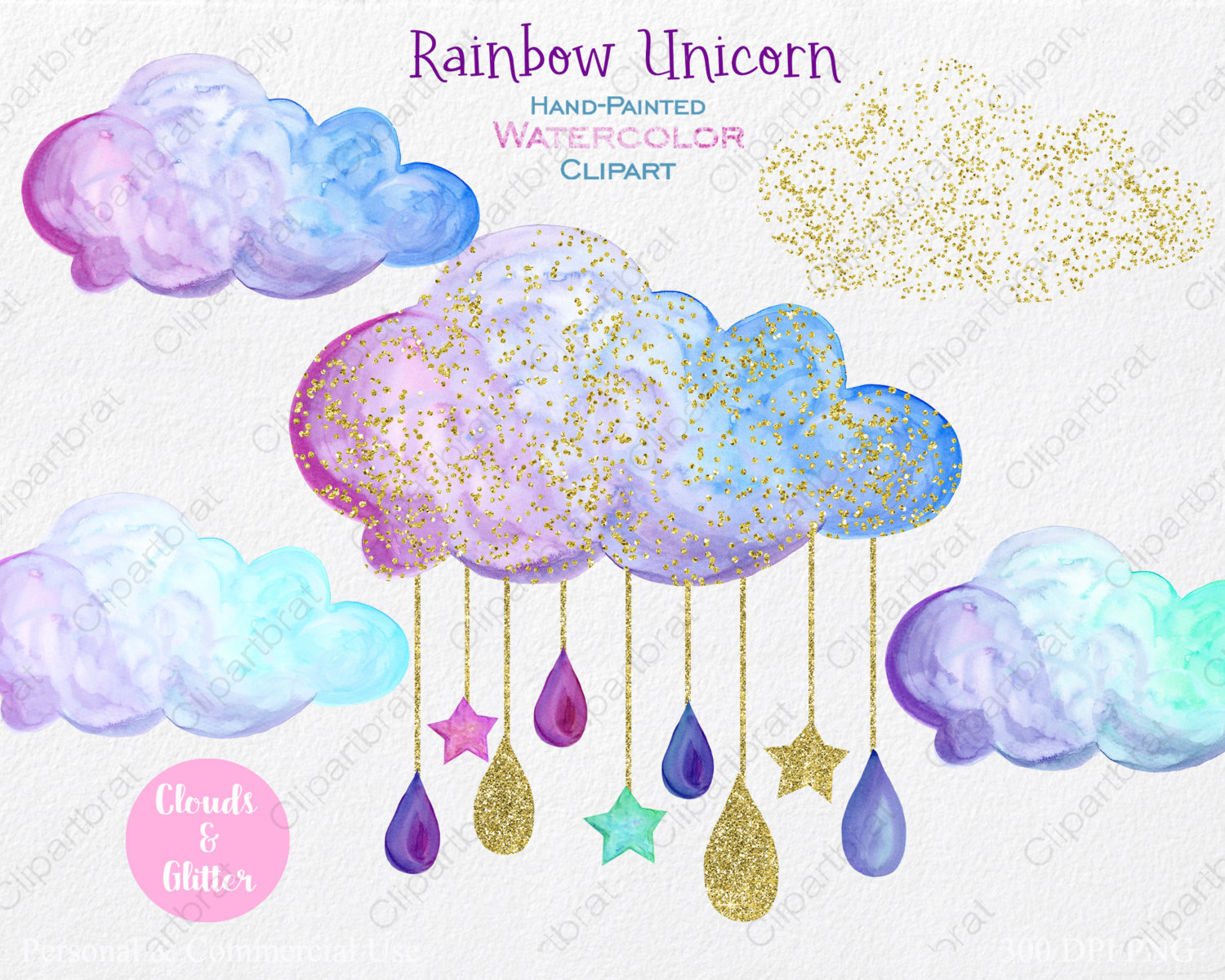 Shooting Star clipart star confetti Clipart Use is Clipart WATERCOLOR