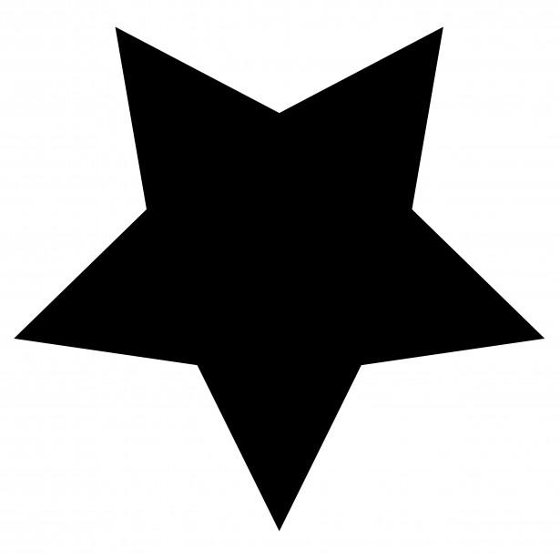 Black clipart star Clip clip shooting white white
