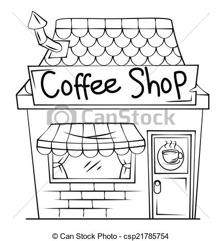 Restaurant clipart cafe building Clipart white of and clipart