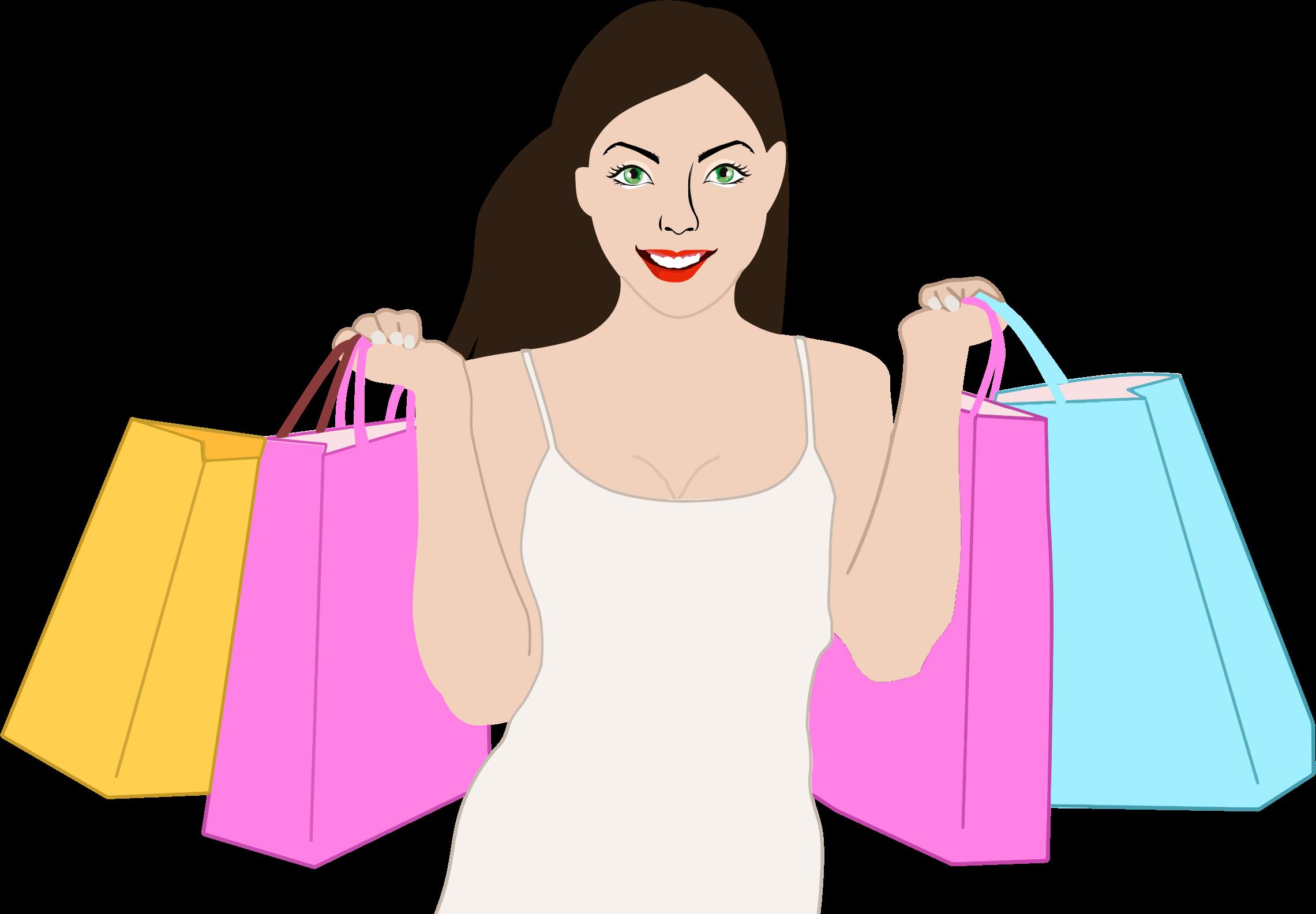 Shop clipart consumer Woman Shopping Shopping Clipart Happy