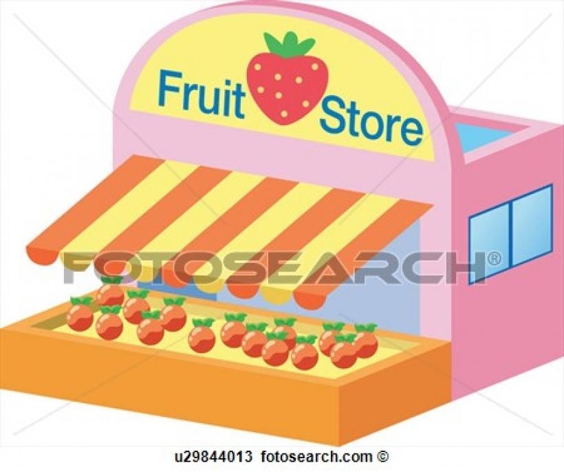 Structure clipart shop Shop structure fruit fruitstore of