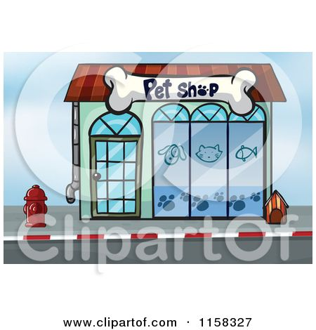 Structure clipart row shop Clipart cute Royalty shop Free