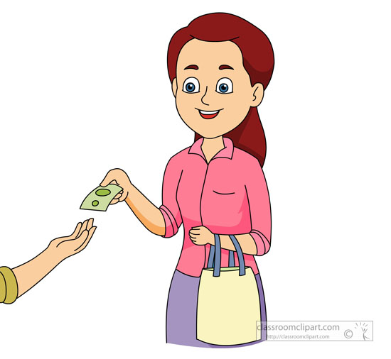 Shop clipart shopkeeper Pictures People handing Size: money