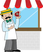 Shop clipart shopkeeper Shop Royalty Keeper Butcher Stock