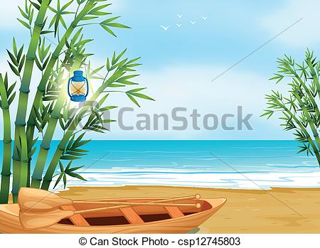 Shore clipart At of Vector the a