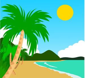 Sea clipart hawaiian beach #4