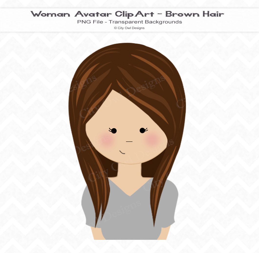 Brown Eyes clipart long hair To portrait weaved on hair