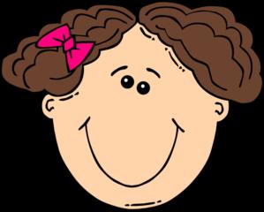 Brown Hair clipart curly hair  Smiling Brown clip Brown
