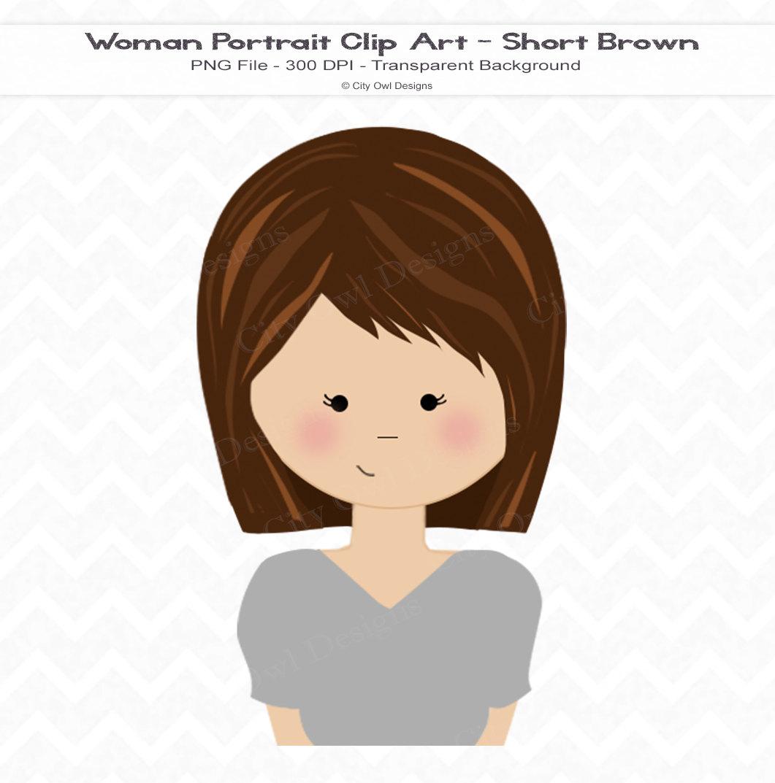 Dark Hair clipart brunette hair Clip Clip Short Hair