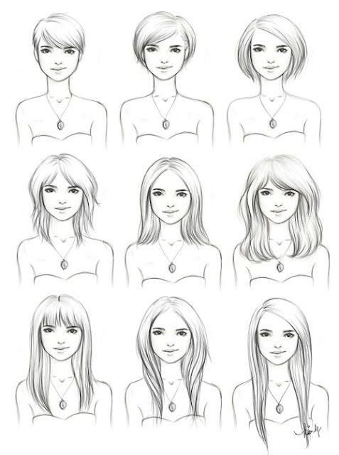 Short Hair clipart different face On Different on Square a