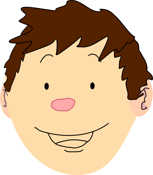 Short Hair clipart guy face Clipart hair guy  Brown