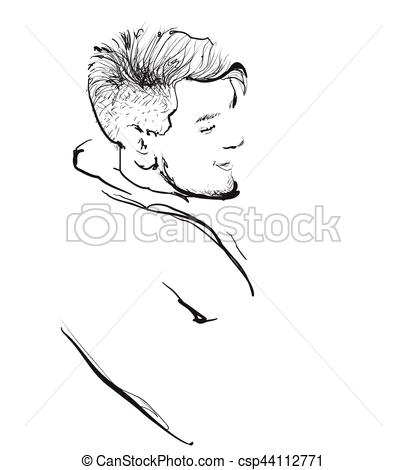 Short Hair clipart guy face Of man Vectors Profile young