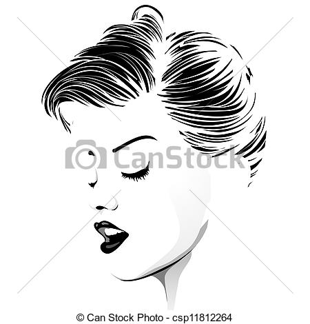 Short Hair clipart hairstyle Stock Vintage of hair Hairstyle
