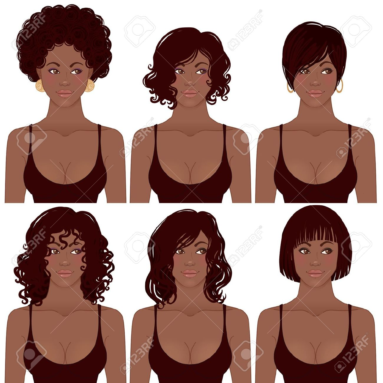 Woman clipart black hair Vector Pin Find For this